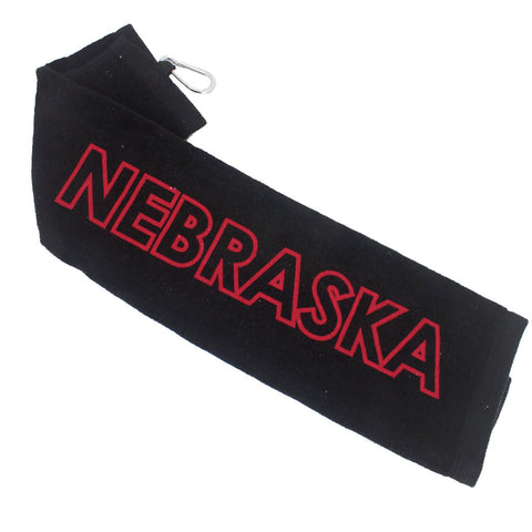 Nebraska Golf Towel by RZR - Black