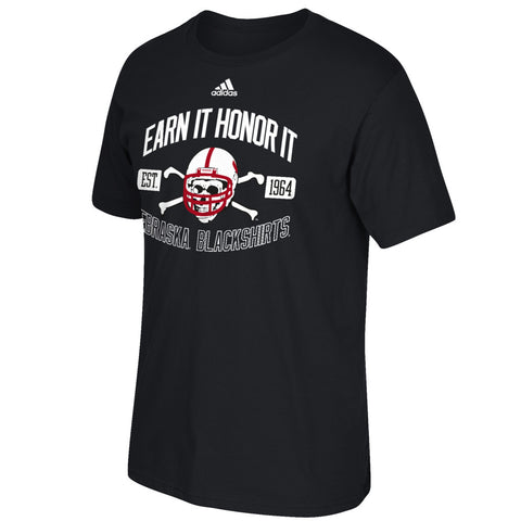 Blackshirts Earn It & Honor Tee by Adidas - SS - Black