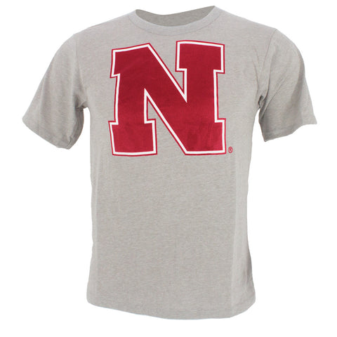 Youth Husker Squad Combo Tee - Grey SS - Red LS