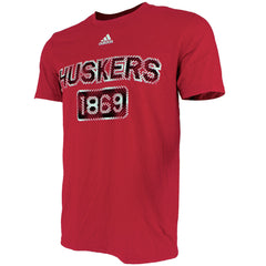 1 LEFT! Nebraska Huskers Rough Diamonds Go-To Performance by Adidas - SS - Red