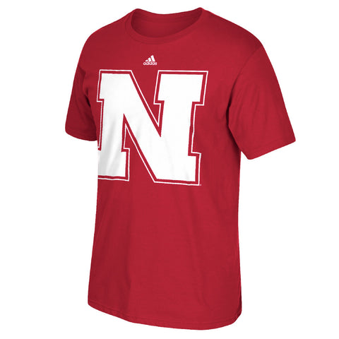 Nebraska Preferred Logo Go To Cotton Tee by Adidas-SS-Red