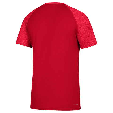 Men's White Noise Scoreboard Ultimate Contrast Tee Tee By Adidas-SS-RED