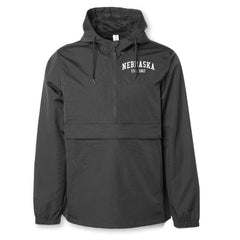 RZR Heavy Duty Water Resistant Nebraska Anorak Jacket - Black