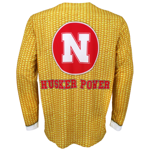 Men's Nebraska Huskers Corn Suit Tee-Yellow Back