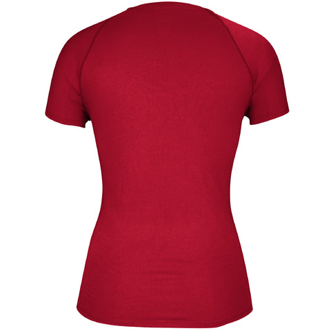 Women's Sideline Climalite Tee by Adidas-SS-Red