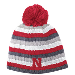 Youth Nebraska Chunky Cuffless Pom Hat by Adidas - Grey
