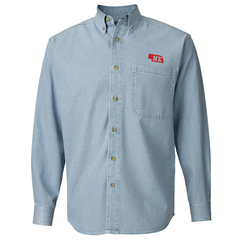 Men's Nebraska Long Sleeve Denim Shirt