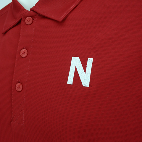 Nebraska Golf Polo by Cutter&Buck Detail