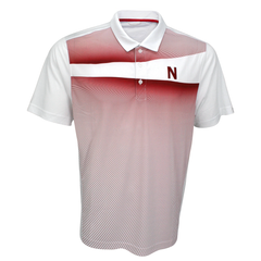 Men's Nebraska Red Stripe Golf Polo Cutter & Buck