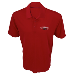 Men's Performance Nebraska Polo-Red