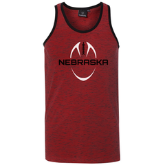 Men's Nebraska Red & Black Tank