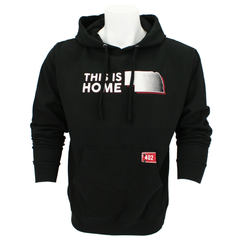 Men's This Is Home Hooded Sweatshirt with 402 Patch on Pocket-Black