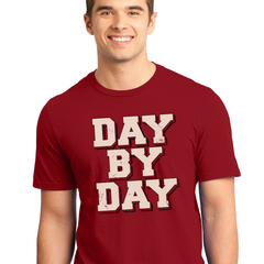 Men's Day by Day Tee-SS-Red