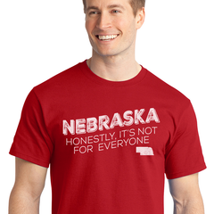 Men's Nebraska Honestly It's Not for Everyone Tee-Red