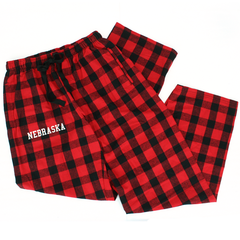 Unisex Buffalo Plaid Flannel Nebraska Pants with Pockets