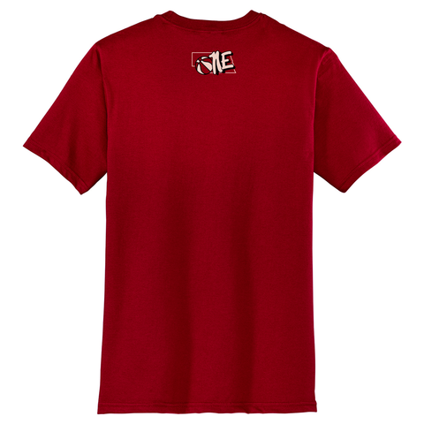 Men's Nebraska Basketball Shirt-Red Back