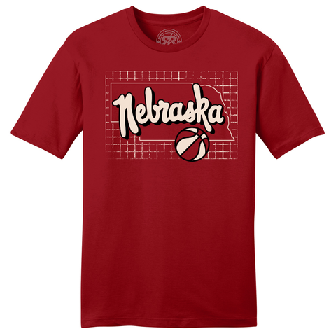 Men's Nebraska Basketball Shirt-Red