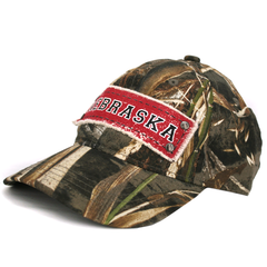 Men's Real Tree Camo Hat with NEBRASKA Patch Side