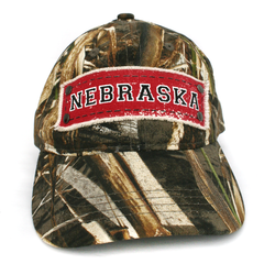 Men's Real Tree Camo Hat with NEBRASKA Patch Front
