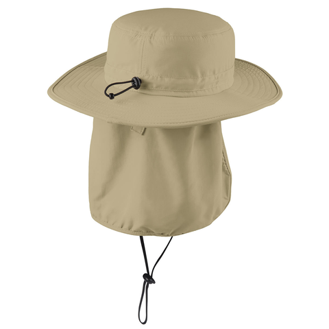 Nebraska Retro Patch Safari Hat Sun Flap