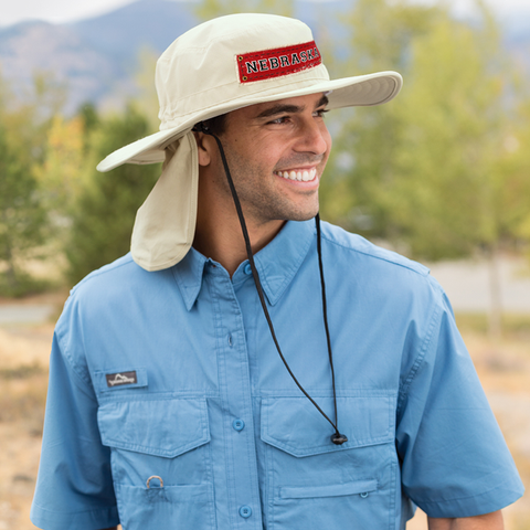 Nebraska Retro Patch Safari Hat Model