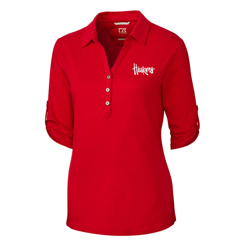 Nebraska Huskers Women's Red Polo