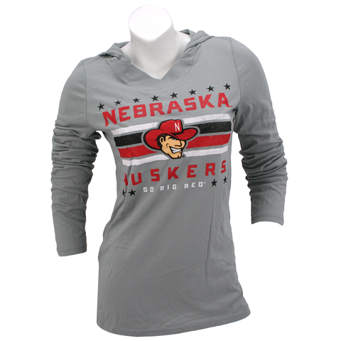 Nebraska Stars & Stripes Huskers Long Sleeve Hooded Tee