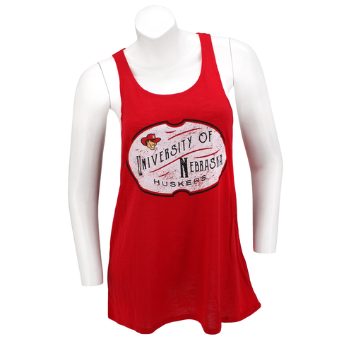 Vintage University of Nebraska Flowy Red Tank Top