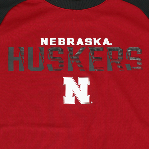 Kids/Youth Nebraska Huskers Circuit Breaker Design Performance Tee Detail