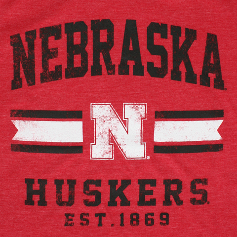 Youth Boys Nebraska Player Pride Triblend Tee-Red Detail