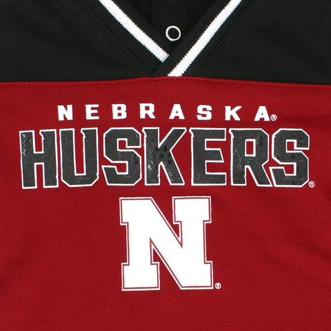 Infant Boys Nebraska Huskers Game Day Jersey Romper Detail