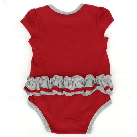 Super Cute Nebraska Huskers Fan Infant Girls 3 Piece Creeper Set Back