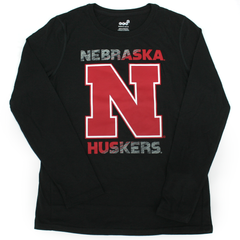 Youth Boys Nebraska Huskers Ultra Tee-LS-Black