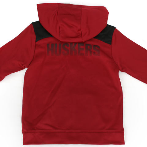 Kids Performance Nebraska Huskers Fleece Set Jacket Back