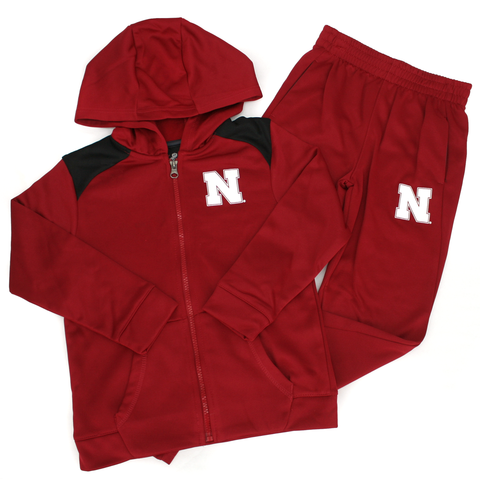 Kids Performance Nebraska Huskers Fleece Set