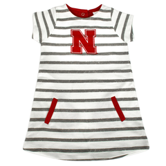 Nebraska Huskers Toddler Girls Stripe Dress