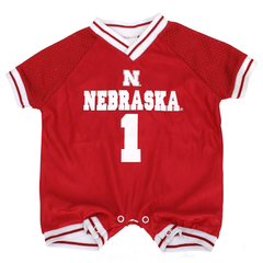 Infant Nebraska Football Jersey Romper