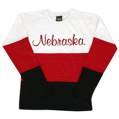Kids/Youth Nebraska Huskers Tri-Colored Long Sleeve Shirt