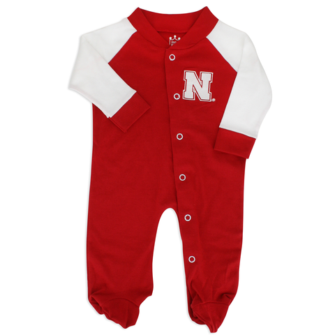 Nebraska Infant Footed Cotton Romper with Snaps