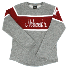Nebraska Youth Terry Fleece Long Sleeve Sweatshirt