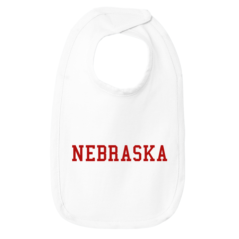 Infant Nebraska Cotton White Bib