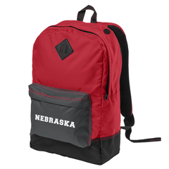 Retro Nebraska Red/Black/Grey Backpack