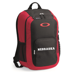 Nebraska Oakley Enduro Black & Red Backpack