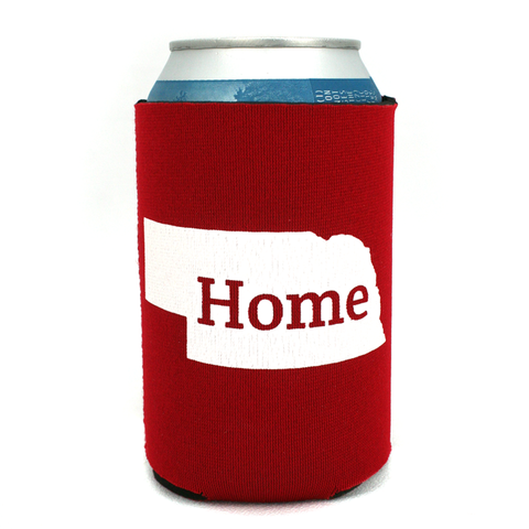 Nebraska Red Home Koozie