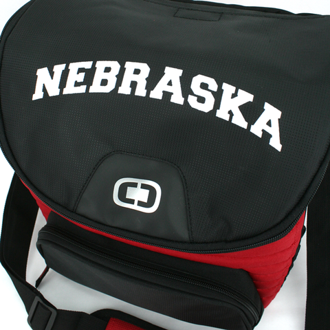 Nebraska Ogio Can Cooler Detail