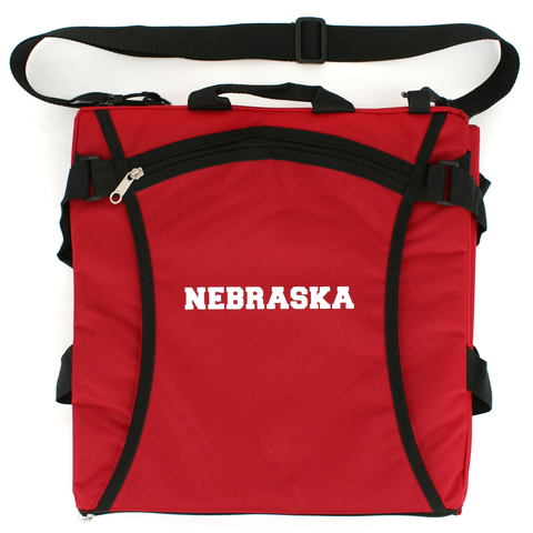 Nebraska Stadium Seat with Strap