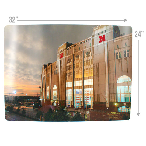Forever Memorial Stadium Metal Print Measurements