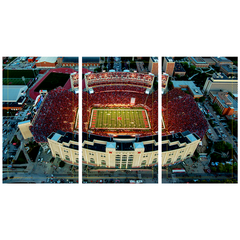 3 Panel Memorial Stadium Stretched Canvas Print-WEST Stadium