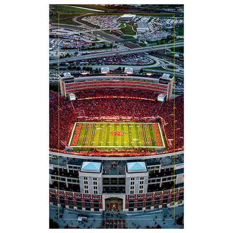 3 Panel Memorial Stadium Stretched Canvas Print-EAST Stadium Center