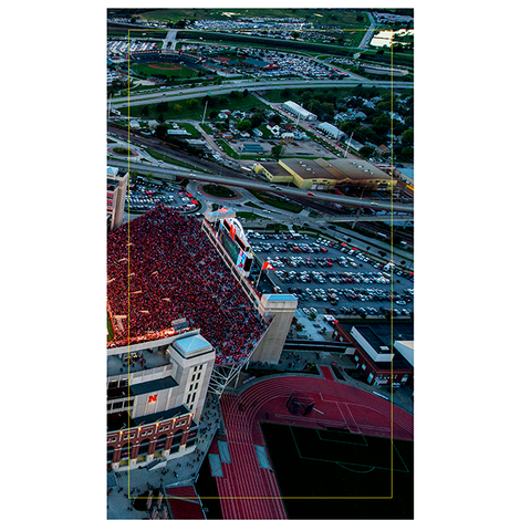 3 Panel Memorial Stadium Stretched Canvas Print-EAST Stadium Right